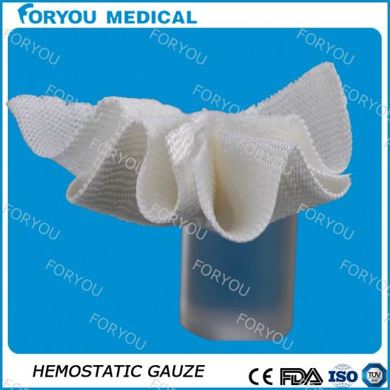 Medical Sterilization Compress Gauze Hemostatic Gauze pictures & photos