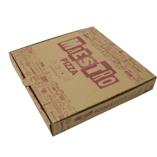 Full Color Pizza Packaging with Window Corrugated Paper Box