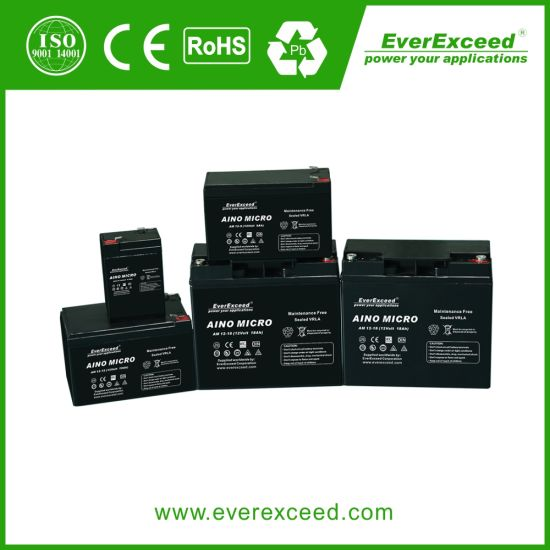Everexceed Aino Micro Range UPS/ Emergency Light/ Telecom 12V 4.0ah AGM Rechargeable Battery