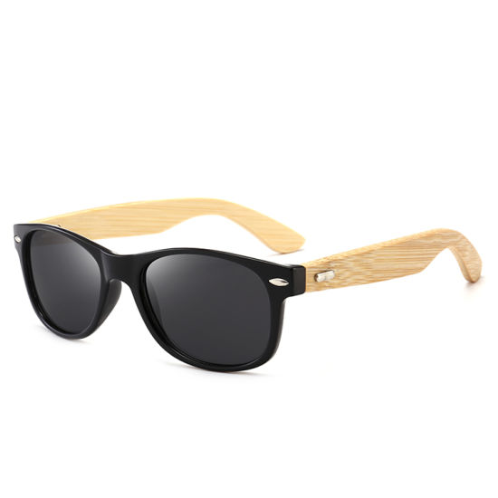 2019 New Men′s Classic Fashion Glasses Retro Rayband Sunglasses Bamboo Legs Bamboo Sunglasses Direct Sales pictures & photos