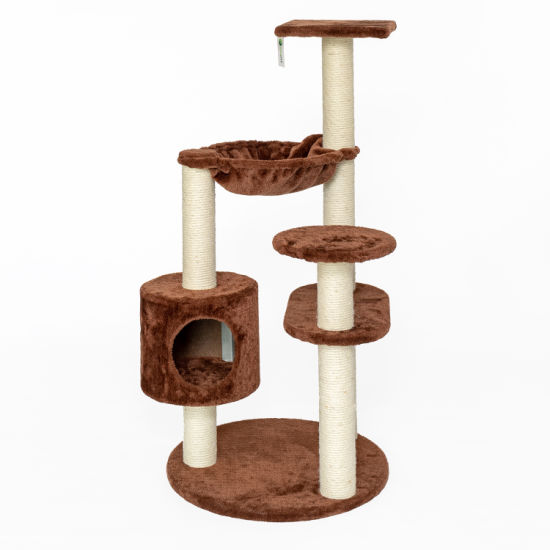 Natural Wood Cat Climbing Tree Cat Play House Tree pictures & photos