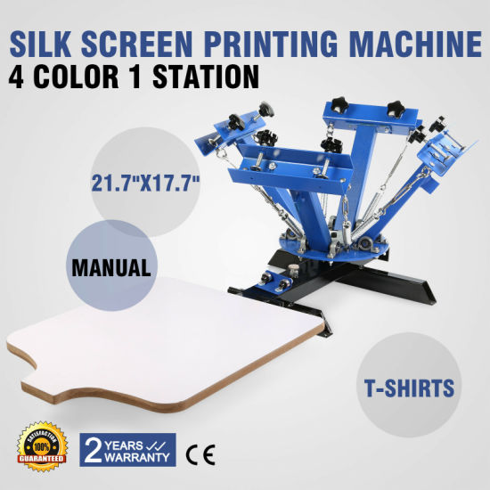 4 Color 1 Station Silk Screen Printing Machine T-Shirt Carousel Manual Print pictures & photos