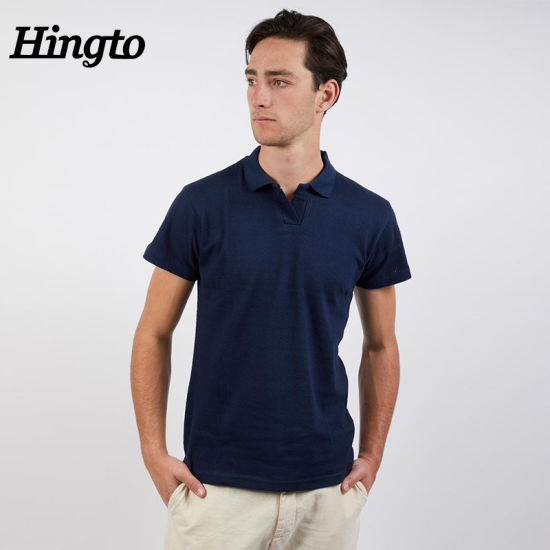 Wholesale Custom Fabric Soft Breathable Business Polo Men's T-Shirts