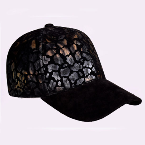 Unisex Sport Style Cool Suede Faux Leather Leopard Print Suede Baseball Cap