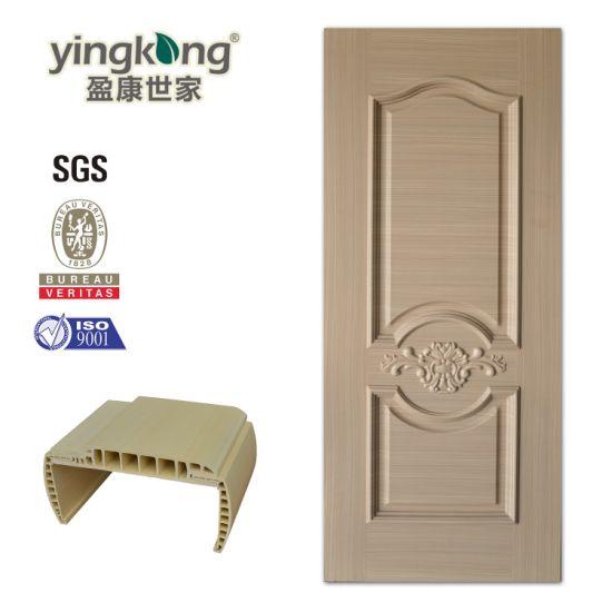 Mold Design Surface PVC Film Coated Interior Waterproof WPC Door for Us/Canada/Israel/Dubai