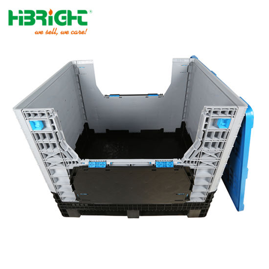 High Quality Heavy Duty Warehouse Large Cheap Storage Container Pallet Box Turnover Box for Egg Plastic Crate in China pictures & photos