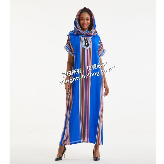Wholesale African Women Fashion Dress One Piece Long Dresses Style Clothing