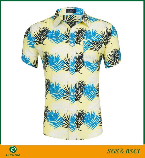 China Factory Full Printing Casual Shirts with Competitive Price