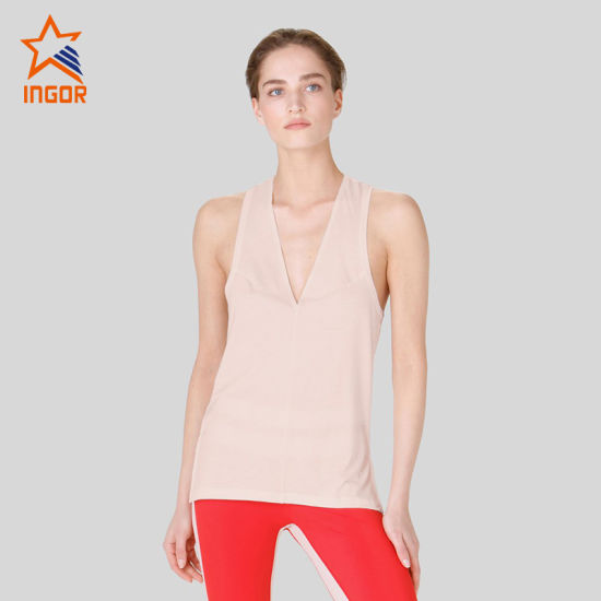 Women 2020 Yoga Tank Tops Custom Designs V Neck Clothing Gym Shirts China Sports Tops And Activewear Tops Price Made In China Com