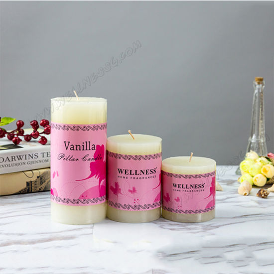 Wholesale Art Candle Type Colored Layered Color Pillar Candle for Christmas Favor