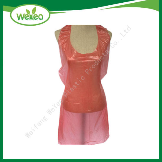 Wholesale Cheap Disposable Plastic PE Aprons with Clear Waterproof HDPE pictures & photos