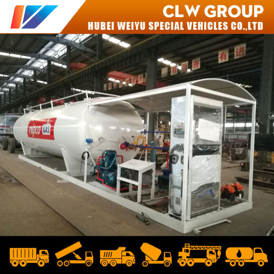 Nigeria LPG Cooking Gas Cylinder Plant 30000L 40000L LPG Mobile Filling Station 30cbm 40cbm LPG Skid Station