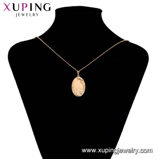 32092 Xuping Fashion Charm 18K Gold-Plated Moon-Shaped Imitation Jewelry Necklace Pendant pictures & photos