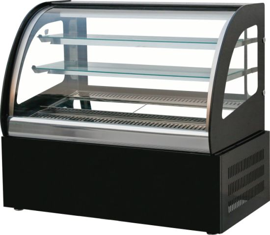 Unique Cake Glass Refrigerated Chocolate Display Case