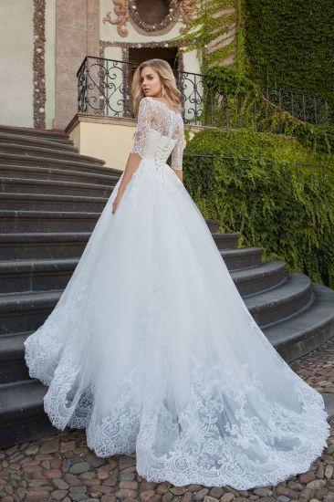 China Amelie Rocky Half Sleeve Custom Made Wedding Gown Bridal Dress ...
