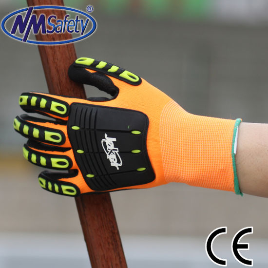Nmsafety Impact Resistant Auto Motive Mechanic Gloves pictures & photos