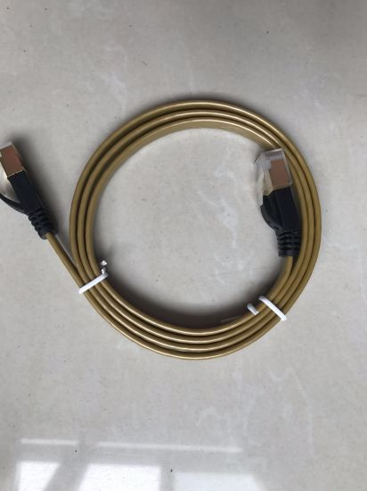 Wholesale 24AWG UTP Cat5e RJ45 Flat Patch Cord Cable pictures & photos
