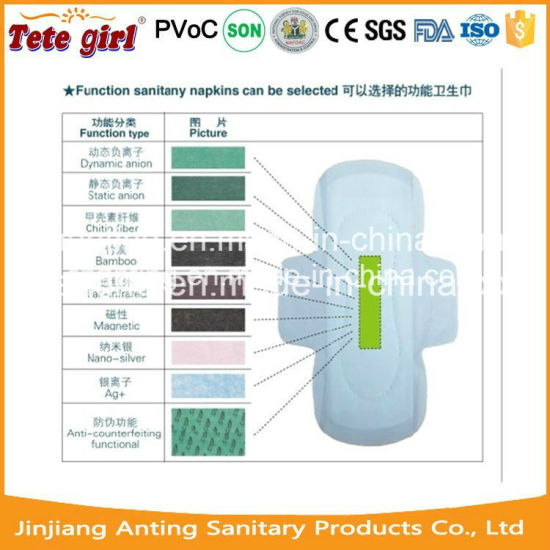 Best Ladies Anion Sanitary Pads, Women Sanitary Pads with Negetive
