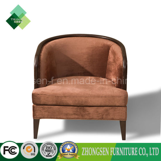 Vintage Style Round Back Chair Single Sofa For
