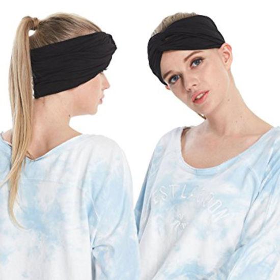 Sweat Wicking Stretchy Athletic Bandana Headbands Head Wrap Yoga Headband 2818c8a0faa