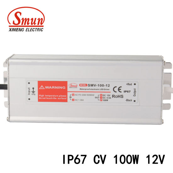 100W 12V 8A Constant Voltage Waterproof LED Switching Power Supply