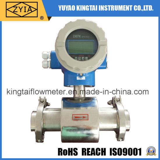Stainless Steel Electromagnetic Digital Flow Meter for Milk