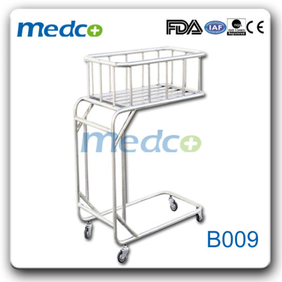 Hot Sale! Movable Hospital Stainless Steel New Born Baby Cot Crib