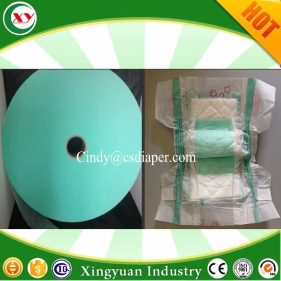 Green Blue White Acquisition Distribution Layer Adl for Adult Baby Diaper