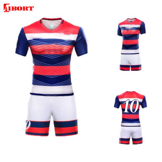Aibort Whosale Custom Sublimated Printed Football Soccer Uniform (L-SC-34)