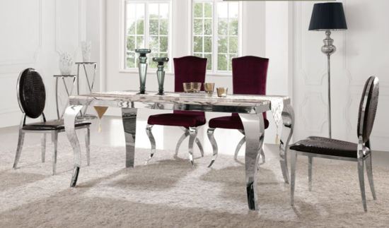 Foshan Furniture Wholesale Modern Cafe Bistro Dining Table Set With Chairs