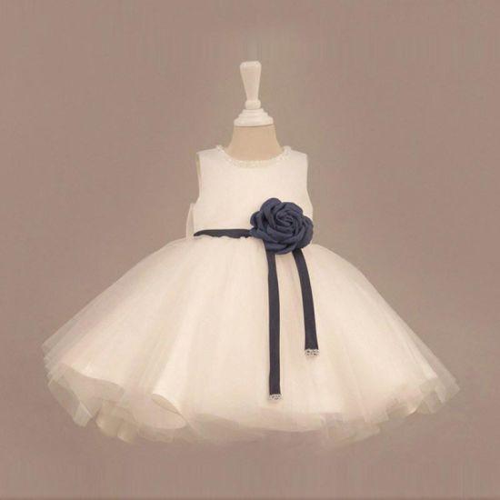 Ivory Bow Tulle Girl Dress for Wedding