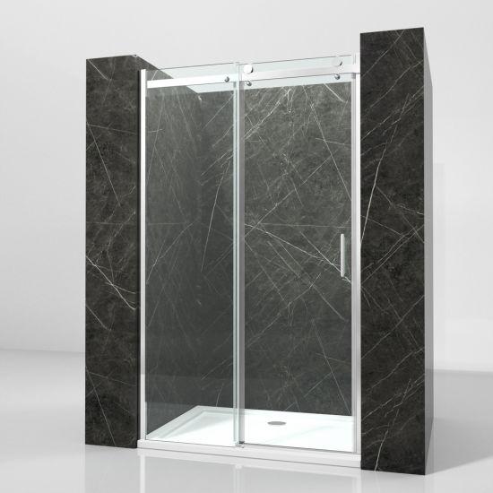 China Wholesale Aluminium Frame 8mm Tempered Glass Bathroom Sliding