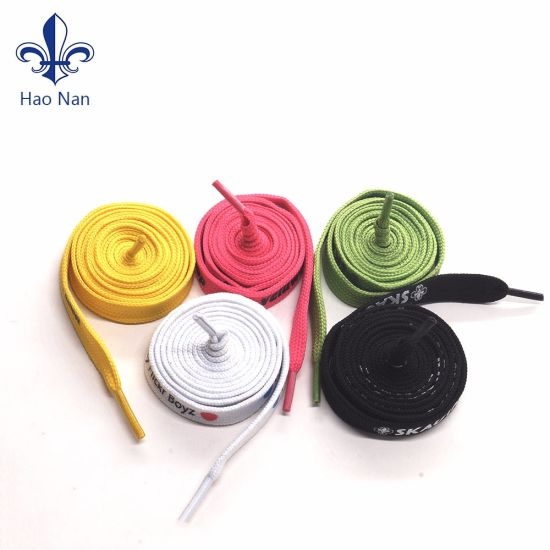 Factory Price Custom Polyester Fabric Nylon Shoe Laces