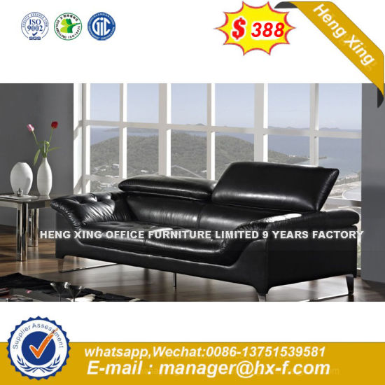 Wooden Frame Arms Leather Executive Office Sofa (UL-NSC415) pictures & photos
