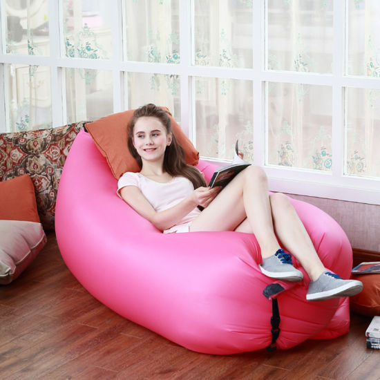 Inflatable Air Bag Chair Sofa Banana Sleeping For Outdoor Camping Pictures Photos