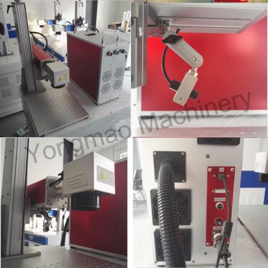 china desktop fiber laser pet id tag engraving machine with ezcad