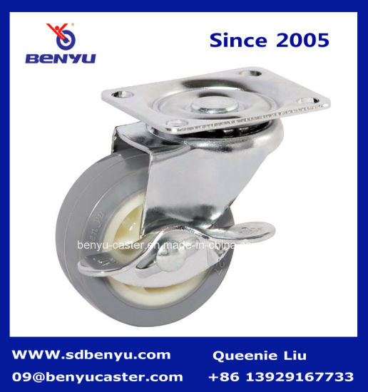 Small Caster Wheel with Side Mount Lock