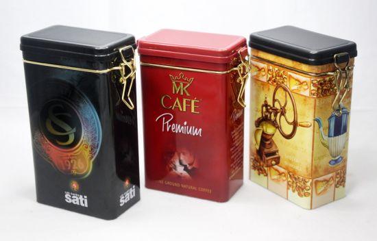 Rectangle Airtight Food Grade Coffee Tea Tin Cans
