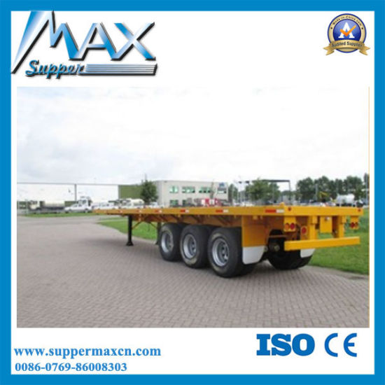 3 Axle 45′′ Flatbed Semi Trailer pictures & photos