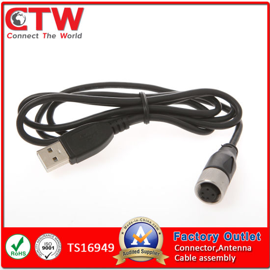 china m12 to usb wiring harness china wire harness, wiring panel mount 12 pin m12 connector wiring