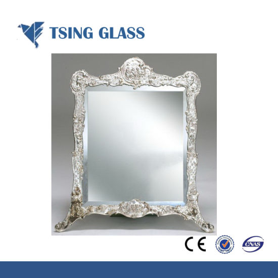 China Silver Mirror with Frame Polished Edges - China Silver Glass ...