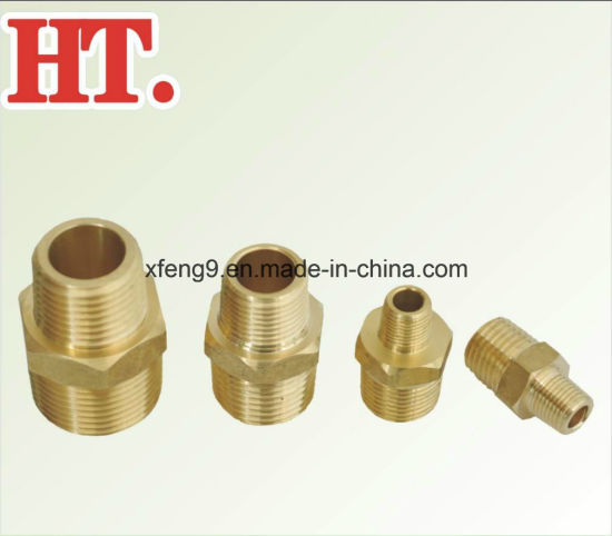 Brass Pipe Fitting NPT Male Pipe Hex Nipple (MIP X MIP) pictures & photos