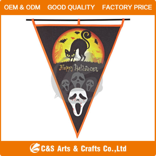 China Heat Sublimated Printed Triangle Festival Garden Flag - China