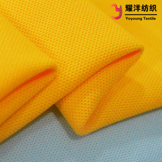 100% Moisture Wicking Polyester Mesh Pique Fabric for Polo Shirt and Sportswear pictures & photos