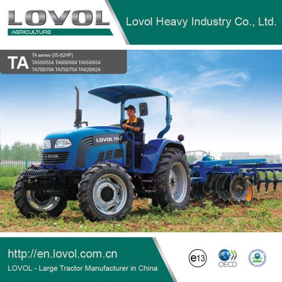 China Best Quality Long Life 55-82HP 4WD Farm Agriculture Tractors pictures & photos