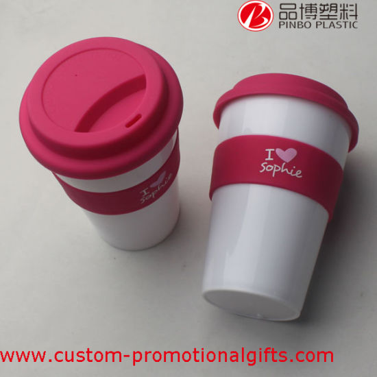 Customized Factory Price 16oz Plastic Coffee Cup with Cover pictures & photos