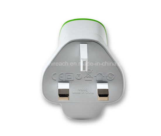 Adaptive Dual USB Travel Charger Portable EU Plug Cell Phone Adapter 5V 3.1A pictures & photos