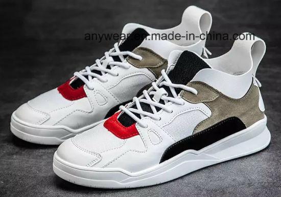New Design Fashion Sports Running Skate Shoes Men's Leather Basketball Sneaker (452)