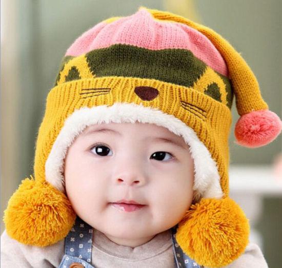 ffc0a3fe3e04e China Hot Sale Cute Baby Kids Infant Winter Warm Beanie Cap - China ...