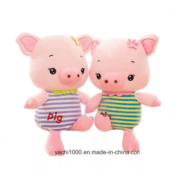 Custom Stuffed Farm Animal Plush Pig Kids Baby Toy